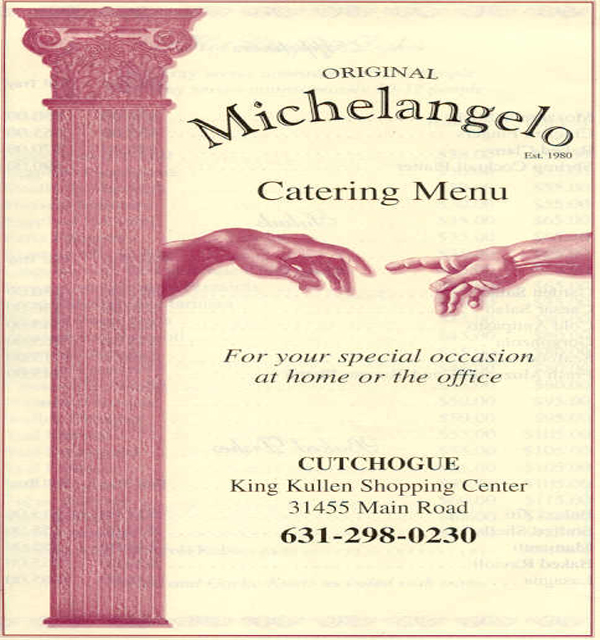 Michelangelo's pizza apex coupons